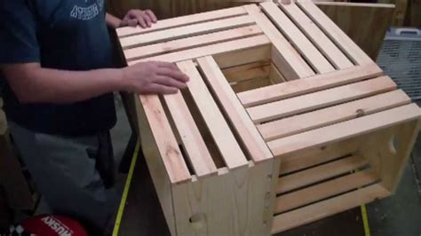 how to a coffee table out of crates how to a crate coffee table woodlogger com