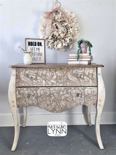 antique white side table stenciled antique white side table general finishes