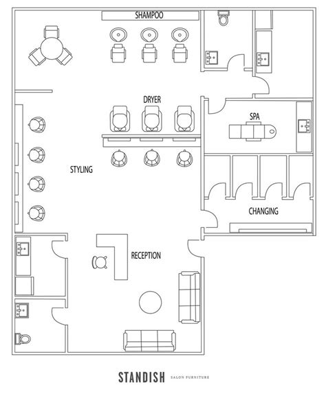 floor plan for spa are you opening a new salon or giving your salon design a