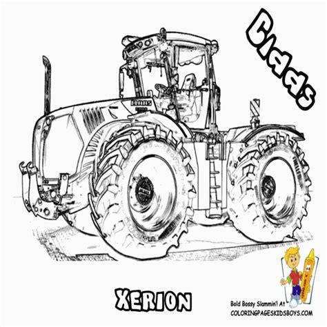 S Dessin Coloriage De Tracteur Claas