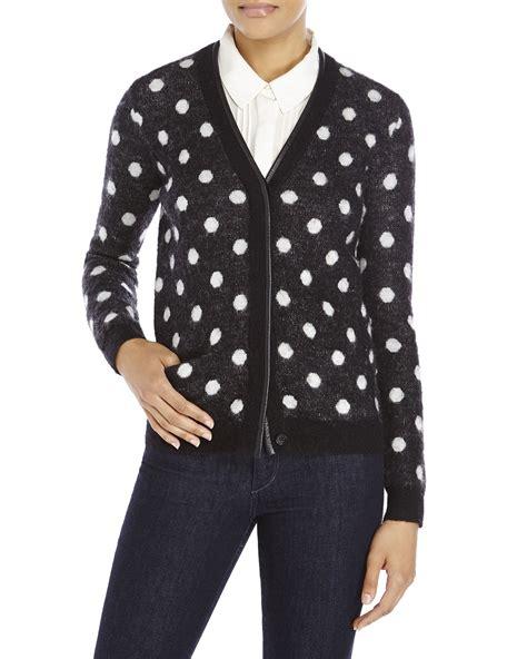Cardigan Polkadot the kooples polka dot cardigan in black lyst