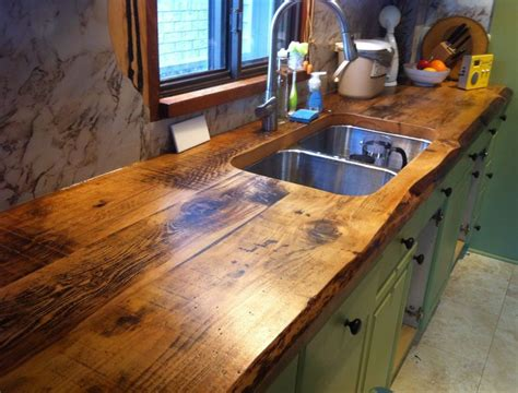 Made Countertops by Awesome Live Edge Kitchen Counter Built With 2 Inch Thick