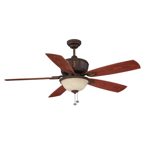 52 Outdoor Ceiling Fan With Light Shop Litex 52 In Antique Bronze Downrod Mount Indoor Outdoor Residential Ceiling Fan With Light