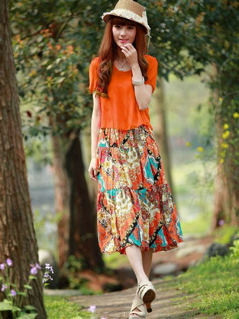 Mock Two Floral Dress new summer floral print mock two maxi dress
