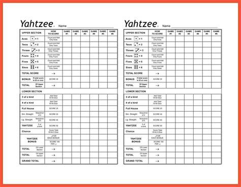 printable painted yahtzee score sheets yahtzee score sheet apa proposal