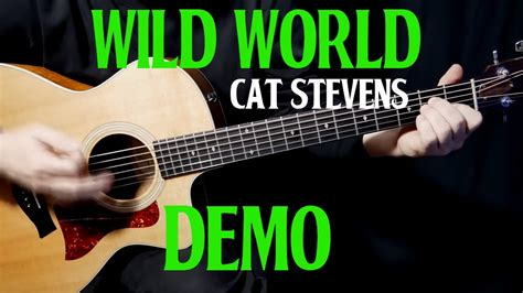 tutorial guitar wild world how to play quot wild world quot on guitar by cat stevens