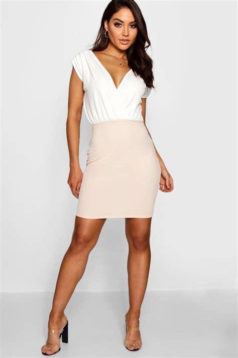Wrap Dress - boohoo womens lara contrast colour wrap dress ebay