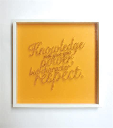 Handmade Typography - wisdom handmade typography project 1 fubiz media