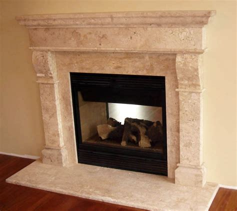 mantel surrounds cast marble fireplace