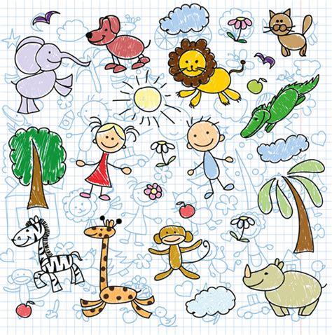 pattern school vector hand drawn children pattern with school elements vector 04