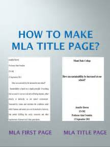 How To Title An Essay by Mla Title Page Step By Step