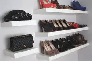 interior wall mounted shelves design idea for shoe and