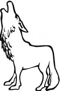 howling wolf coloring pages wolves howling cliparts co