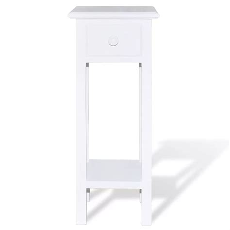 white side table with drawer white telephone side table with drawer vidaxl