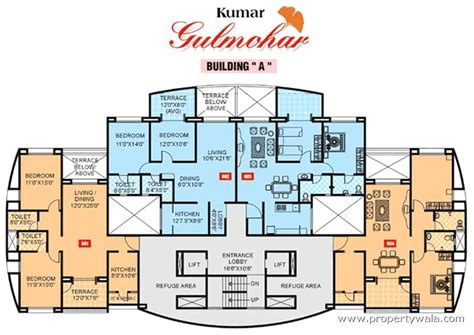 builder floor plans kumar gulmohar wanwadi pune residential project