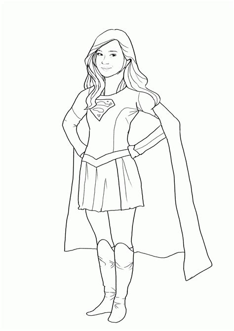 free supergirl coloring pages az coloring pages