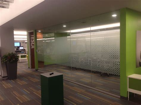 etched vinyl  privacy film  glass walls roseville ca