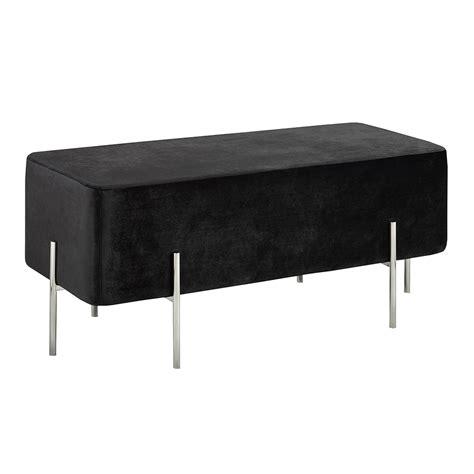 black velvet ottoman kube black velvet ottoman steel bench xcella