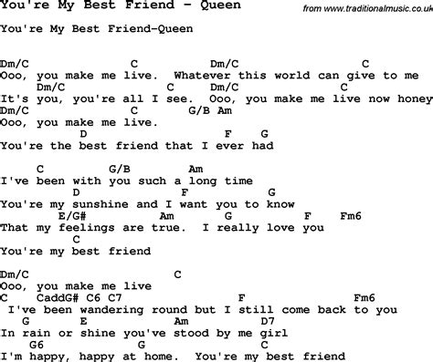 theme song you re my best friend song you re my best friend by queen song lyric for vocal