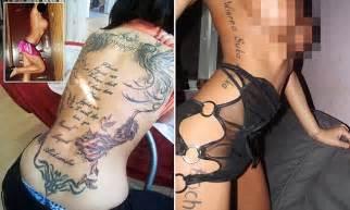 pimp branding tattoos pimp branding tattoos pimps tattoo their names on