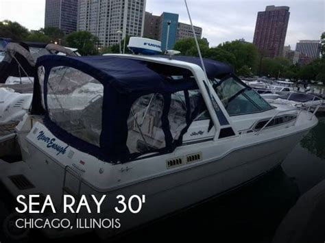 used sea ray boats for sale in illinois for sale used 1989 sea ray 300 sundancer in chicago