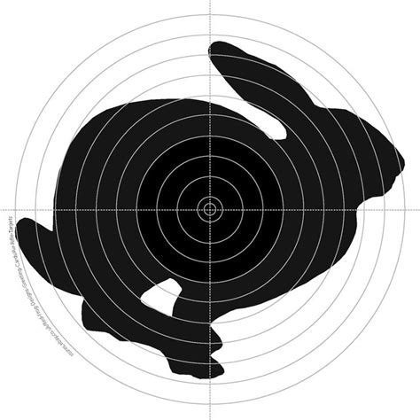 printable rabbit shooting targets 17 best images about targets on pinterest air rifle