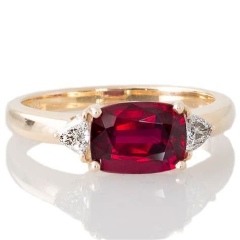 Ruby 9 05ct unheated 2 05ct ruby ring luxurious jewelry