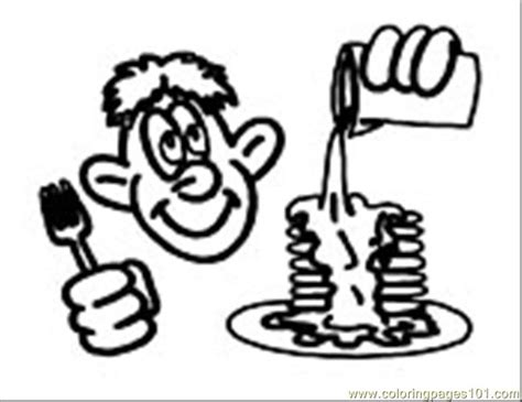 free coloring pages of breakfast food for