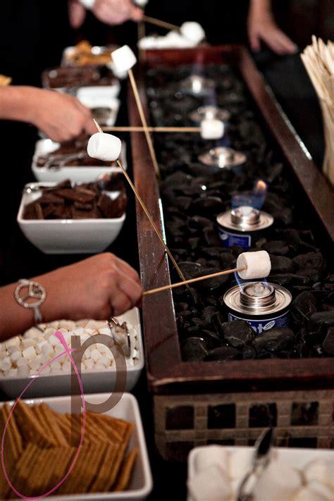 smores at wedding reception s mores bar wedloft