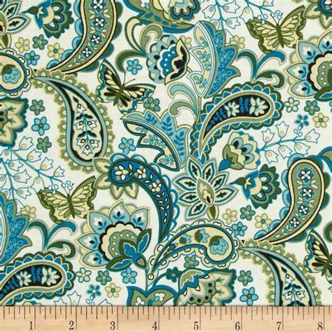 designer home decor fabric cassandra paisley teal discount designer fabric fabric com