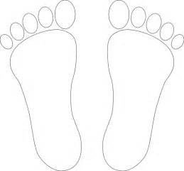 foot colouring pages