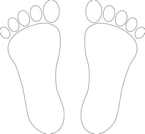 Foot Coloring Pages 187 foot 1 print two black white line coloring book colouring svg openclipart org commons