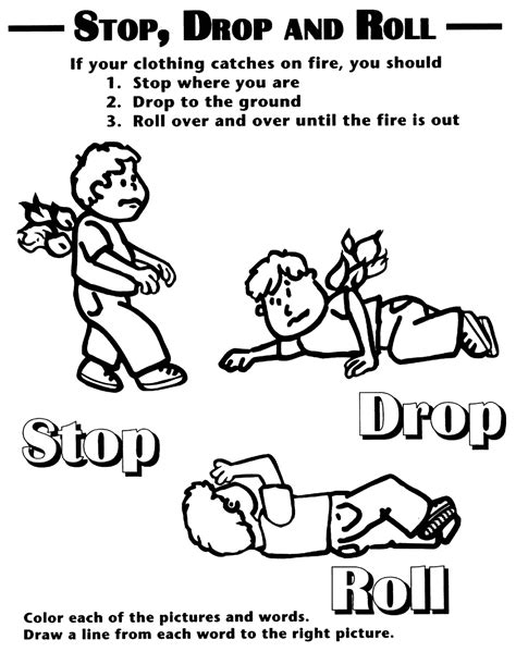 fire safety coloring pages