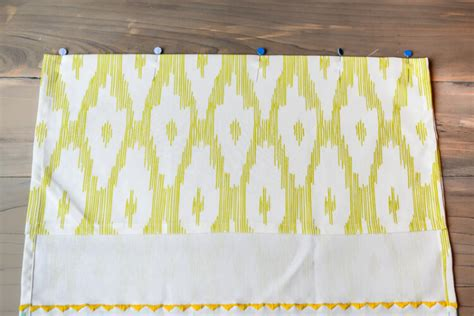 sewing trim on curtains easy tea towel curtains simple beginner sewing project