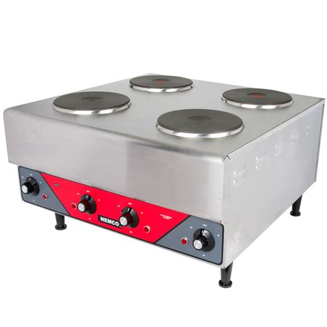 office hot plate nemco 6311 2 240 electric countertop raised hot plate with