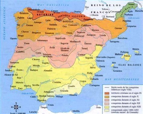 reconquista del reino de 8408176129 etapas de la reconquista mapas al andalus mapa del mapas y cristianos
