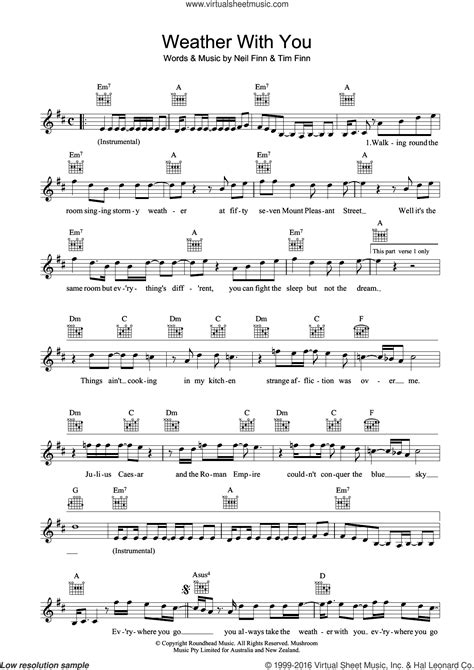 House - Weather With You sheet music (fake book) [PDF]