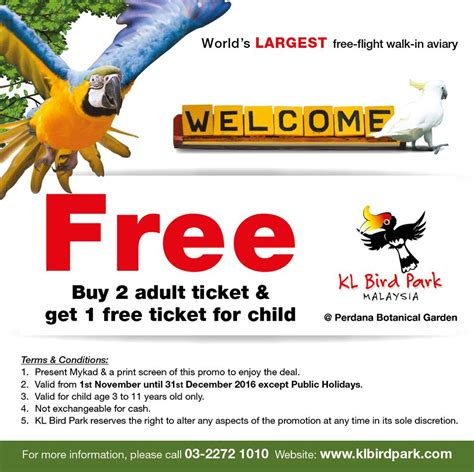 Free Ticket Giveaway - kl bird park free tickets giveaway promotion 2016