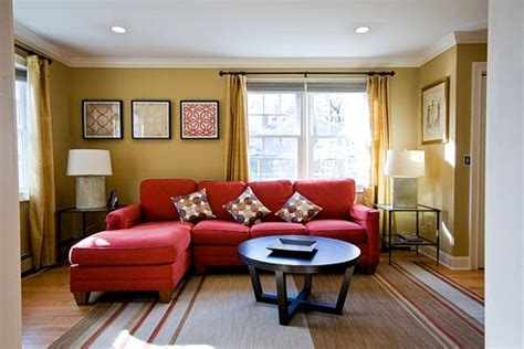 red couch wall color andrea espach design red couches