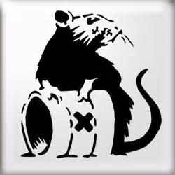 Banksy Stencil Templates by Amazing Stencils Toxic Rat Banksy Stencil