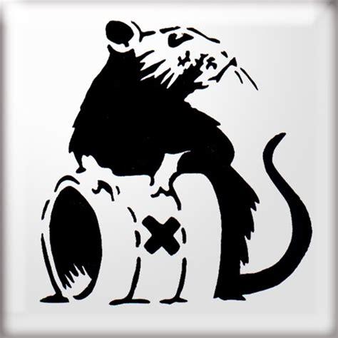 amazing stencils toxic rat banksy stencil