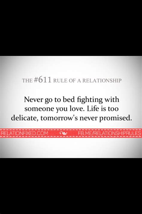 Going To Bed Quotes by Never Go To Bed Relationship Quote