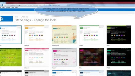 sharepoint templates sharepoint 2013 tutorial how to change the site theme in