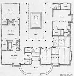 spanish style house plans with interior courtyard courtyards bungalows and spanish on pinterest