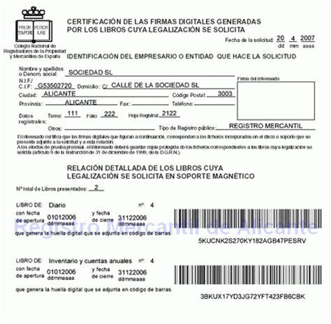 registro bienes muebles alicante manual para la generaci 243 n de libros digitales con legalia