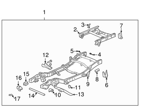 parts 174 gmc sonoma frame components oem parts trans cross member gm 15057773 quirk parts
