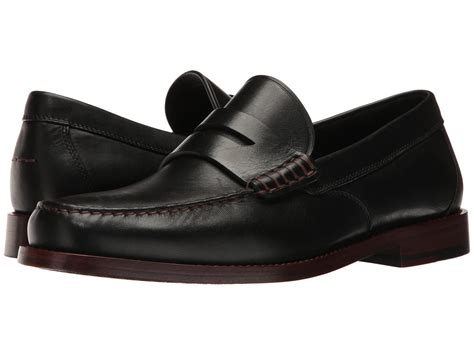 coach loafers coach manhattan leather loafer in black for lyst