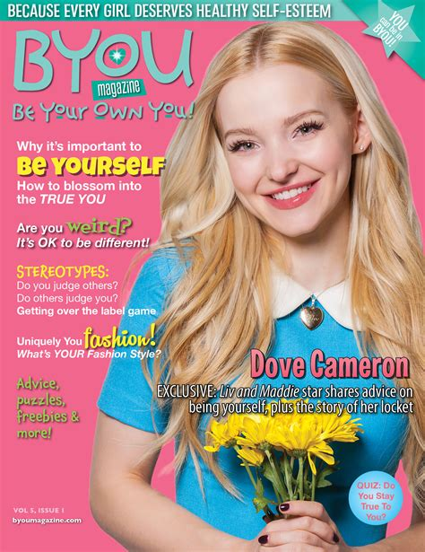 To Be A Magazine Cover Model by Dove Cameron Shines In Byou Magazine Quot Be Yourself