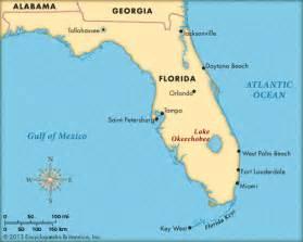 where is okeechobee florida on the map okeechobee lake encyclopedia children s