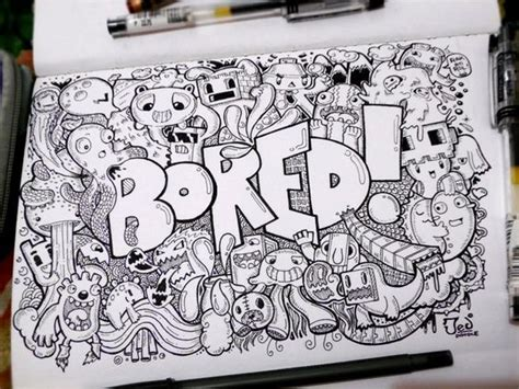 doodle imagine draw notebook bored doodle doodles drawings and